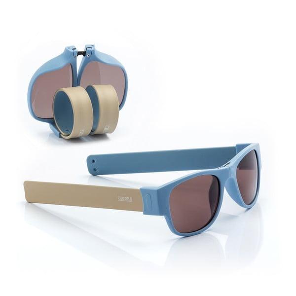 Modré sluneční srolovatelné brýle InnovaGoods Sunfold AC5
