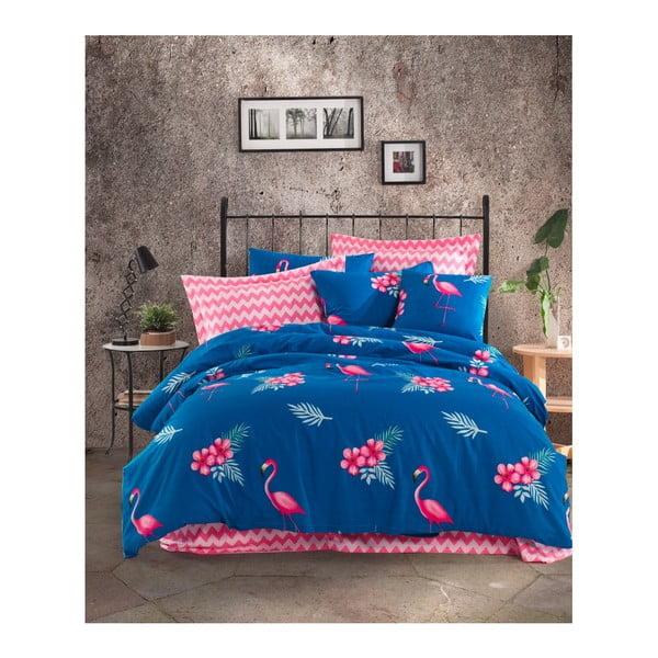 Lenjerie de pat cu cearșaf din bumbac ranforce, pentru pat dublu Mijolnir Flemenco Parliement, 200 x 220 cm