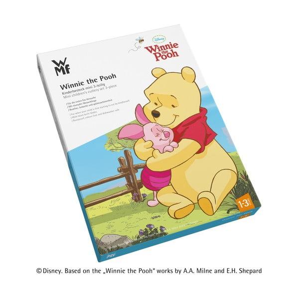 Set tacâmuri 4 piese din oțel inoxidabil pentru copii WMF Cromargan® Winnie Pooh