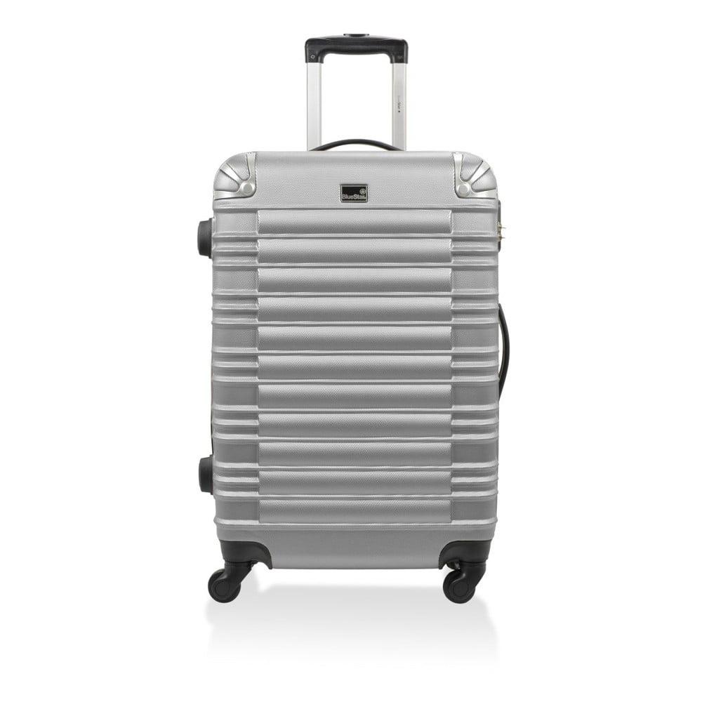 Kufr ve stříbrné barvě na kolečkách Blue Star Davis, 91 l