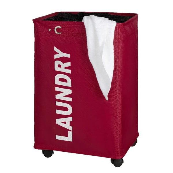 Červený koš na prádlo Wenko Quadro, 79,2 l