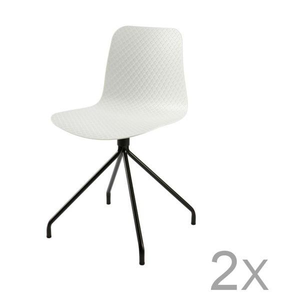 Sis fehér székkészlet, 2 részes - WOOOD