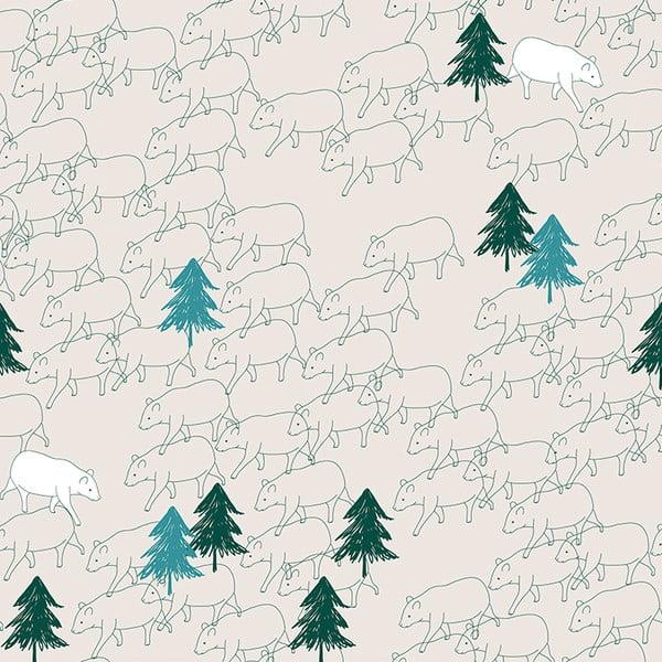 Samolepící tapeta Bears, 90x300 cm