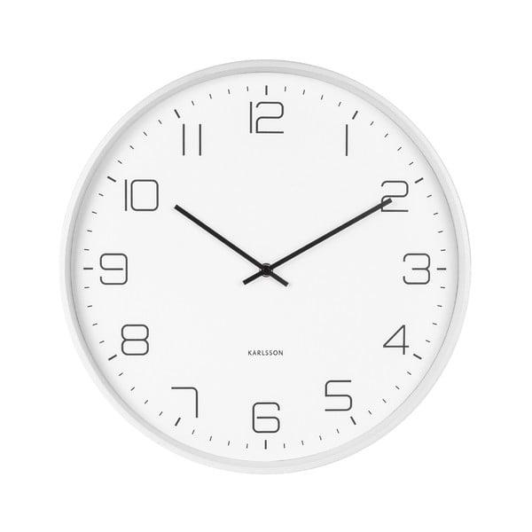 Biele nástenné hodiny Karlsson Lofty, ø 40 cm