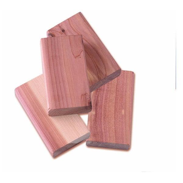 Set 4 piese din lemn de cedru pentru dulap Compactor