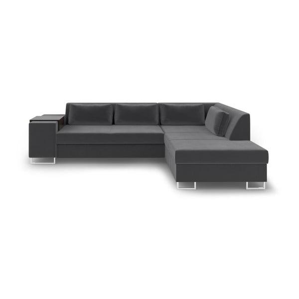San Antonio sötétszürke kinyitható kanapé, jobb oldali - Cosmopolitan Design