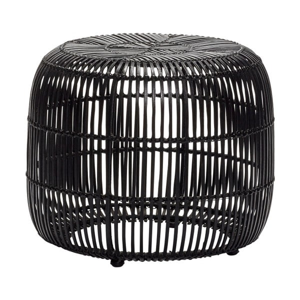 Černá ratanová stolička Hübsch Retto