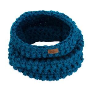 Eșarfă rotundă tricotată manual DOKE Petrol
