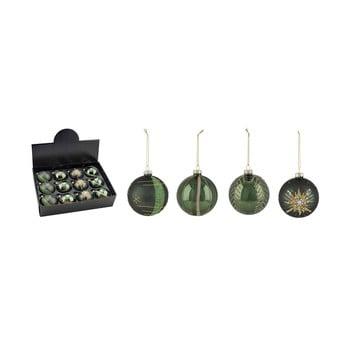 Set 12 decorațiuni pentru bradul de Crăciun Ego Dekor, verde imagine