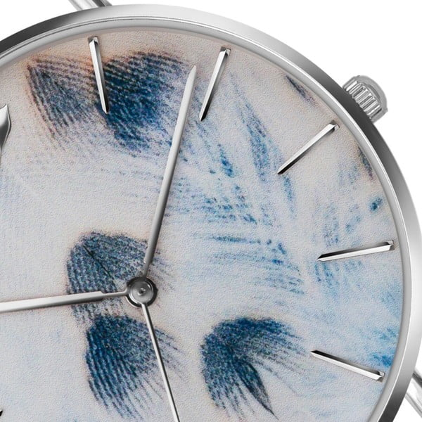 Dámské hodinky s šedým páskem z nerezové oceli Emily Westwood Nataly