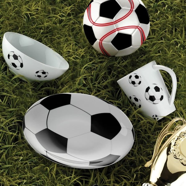 Sada hrnku, misky a talířku Fotbal