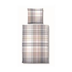 Povlečení Biber Deluxe Cube Grey, 135x200 cm