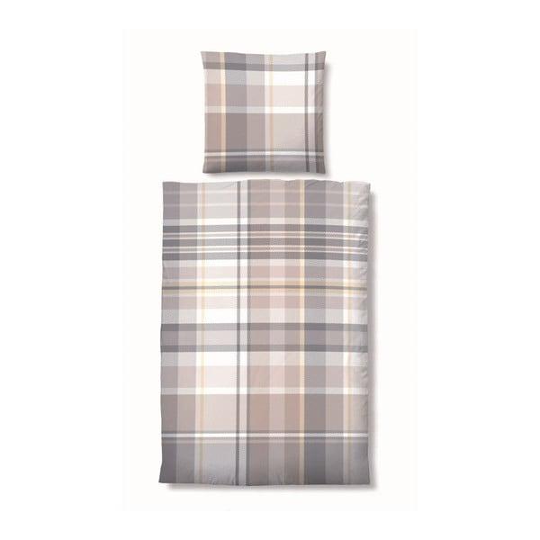 Povlečení Biber Deluxe Cube Grey, 155x200 cm