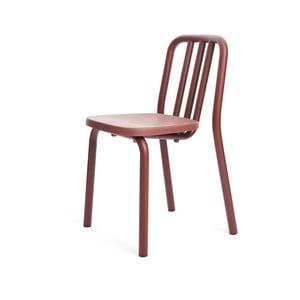 Kaštanově hnědá židle Mobles 114 Tube