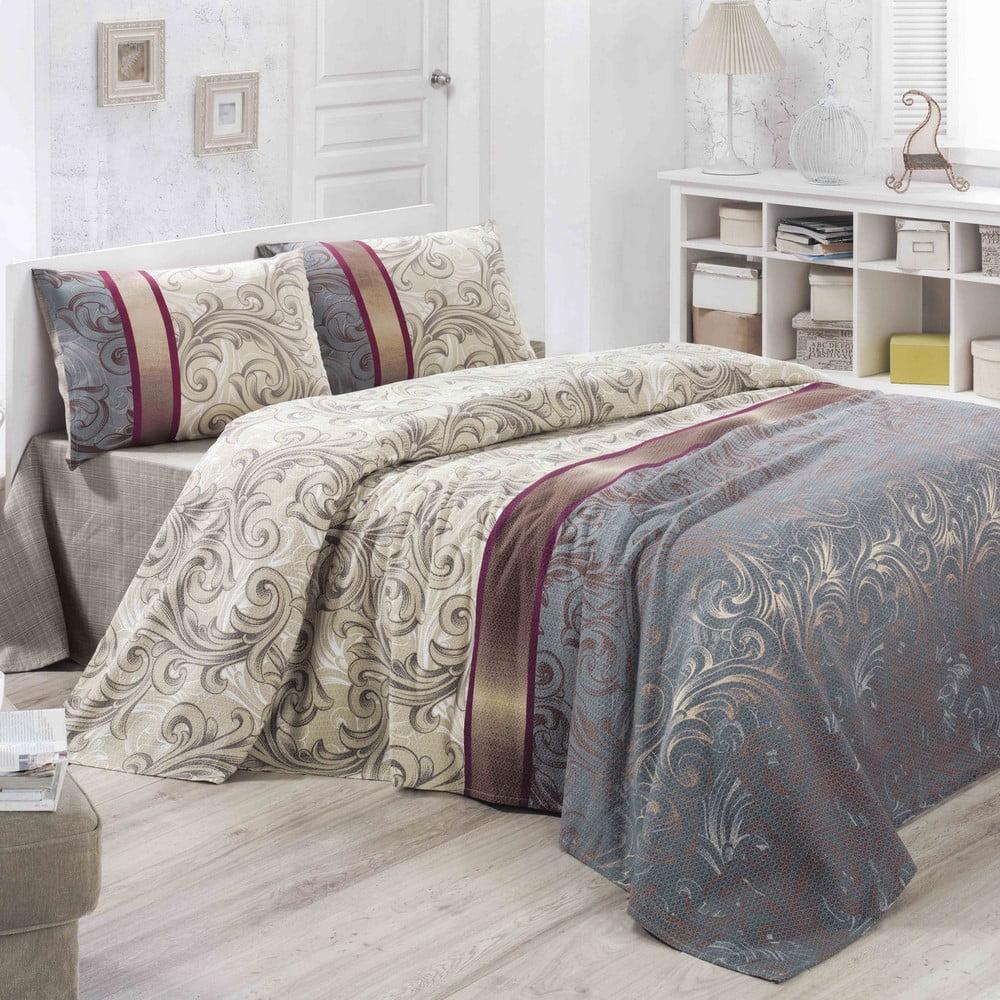 Bavlněný lehký přehoz přes postel Hurrem, 200 x 230 cm