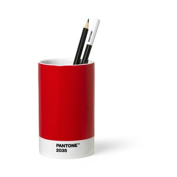 Suport din ceramică pentru pixuri și creioane Pantone, roșu
