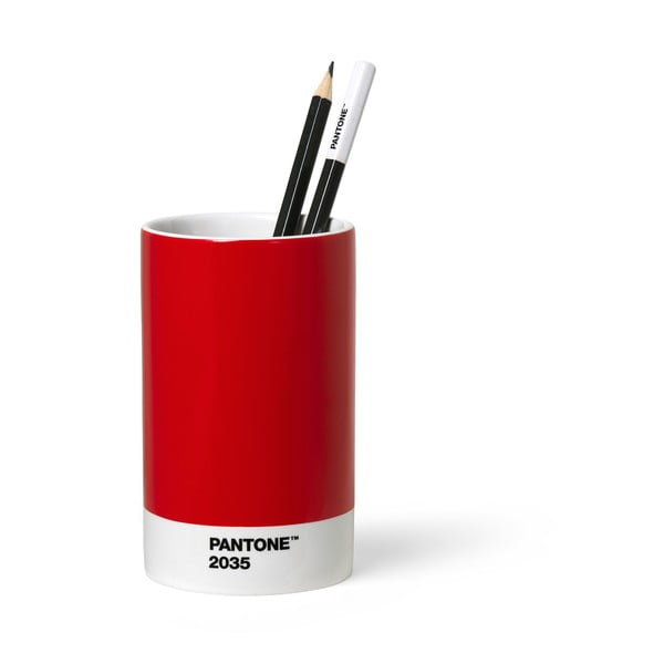 Červený keramický stojan na ceruzky Pantone
