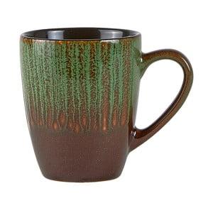 Cană din ceramică KJ Collection Life, 250 ml, verde - maro