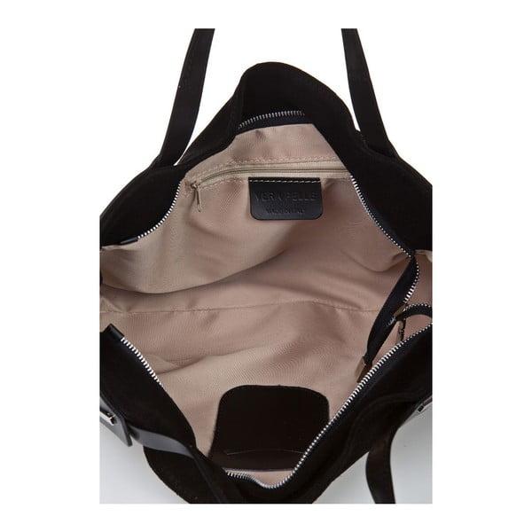 Černá kožená kabelka Giorgio Costa Matt