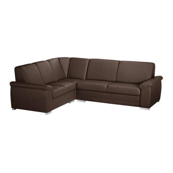 Canapea cu șezut pe partea stângă Florenzzi Bossi Medium, maro închis