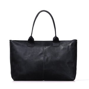 Černá kožená vintage kabelka O My Bag Madam Rose