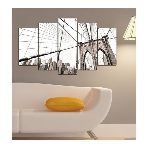 Vícedílný obraz 3D Art Gris Bridge, 102x60cm