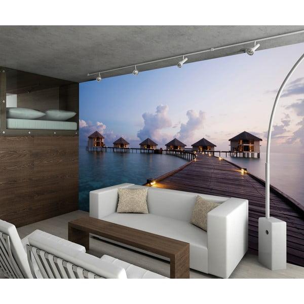 Velkoformátová tapeta Maledivské domečky, 315x232 cm