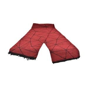 Červený dámský šál s příměsí bavlny Dolce Bonita Sky Fonce, 170 x 90 cm