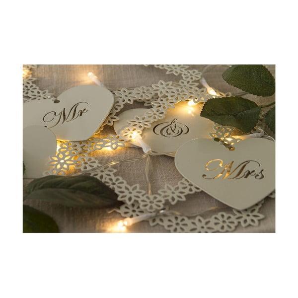 Svatební girlanda s LED světly Mr. & Mrs, 1 m
