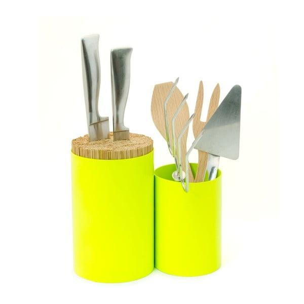 Blok na nože a kuchyňské náčiní Knife&Spoon Lime