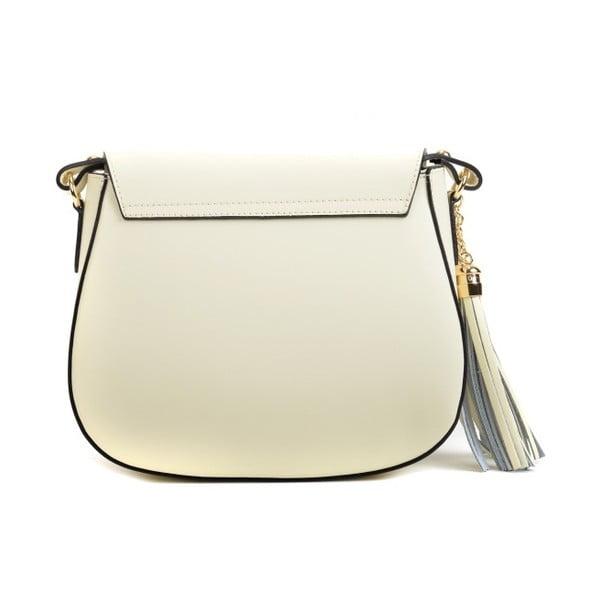 Béžová kožená kabelka Mangotti Bags Karmo