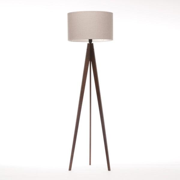 Stojací lampa Artist Brown Grey Felt/Dark Brown, 125x42 cm