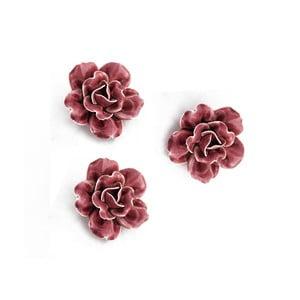 Keramická květina k zavěšení 3ks, fialová