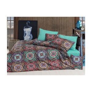 Lenjerie din bumbac pentru pat de o persoană Indian,160x220cm