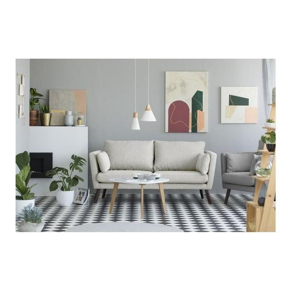 Světle béžová 3místná pohovka Mazzini Sofas Elena