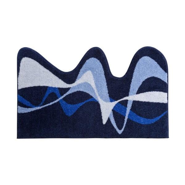 Koupelnová předložka Kolor My World XVIII 75x120 cm, modrá