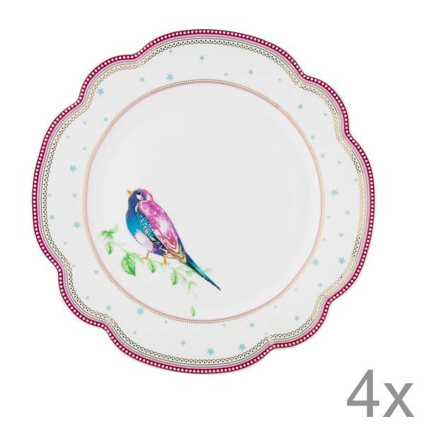 Porcelánový talíř  Birdie od Lisbeth Dahl, 24 cm, 4 ks