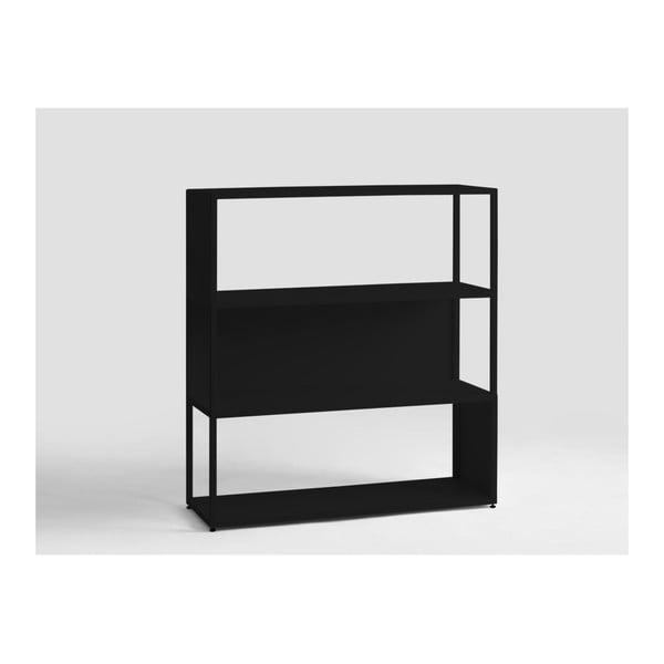 Hyller Side fekete könyvespolc, magassága 110 cm - Custom Form