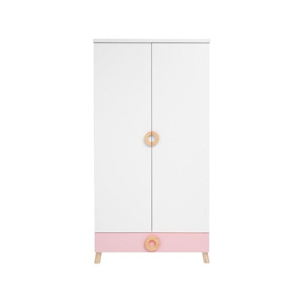 Circle rózsaszín-fehér gardróbszekrény - KICOTI