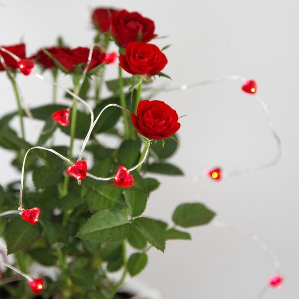 Světelný LED řetěz Best Season Hearts, 110 cm