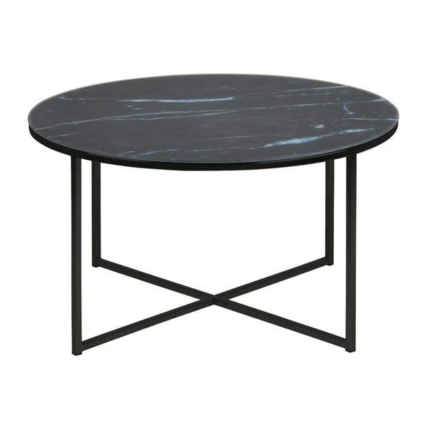 Tmavě šedý konferenční stolek Actona Alisma, ⌀ 80 cm