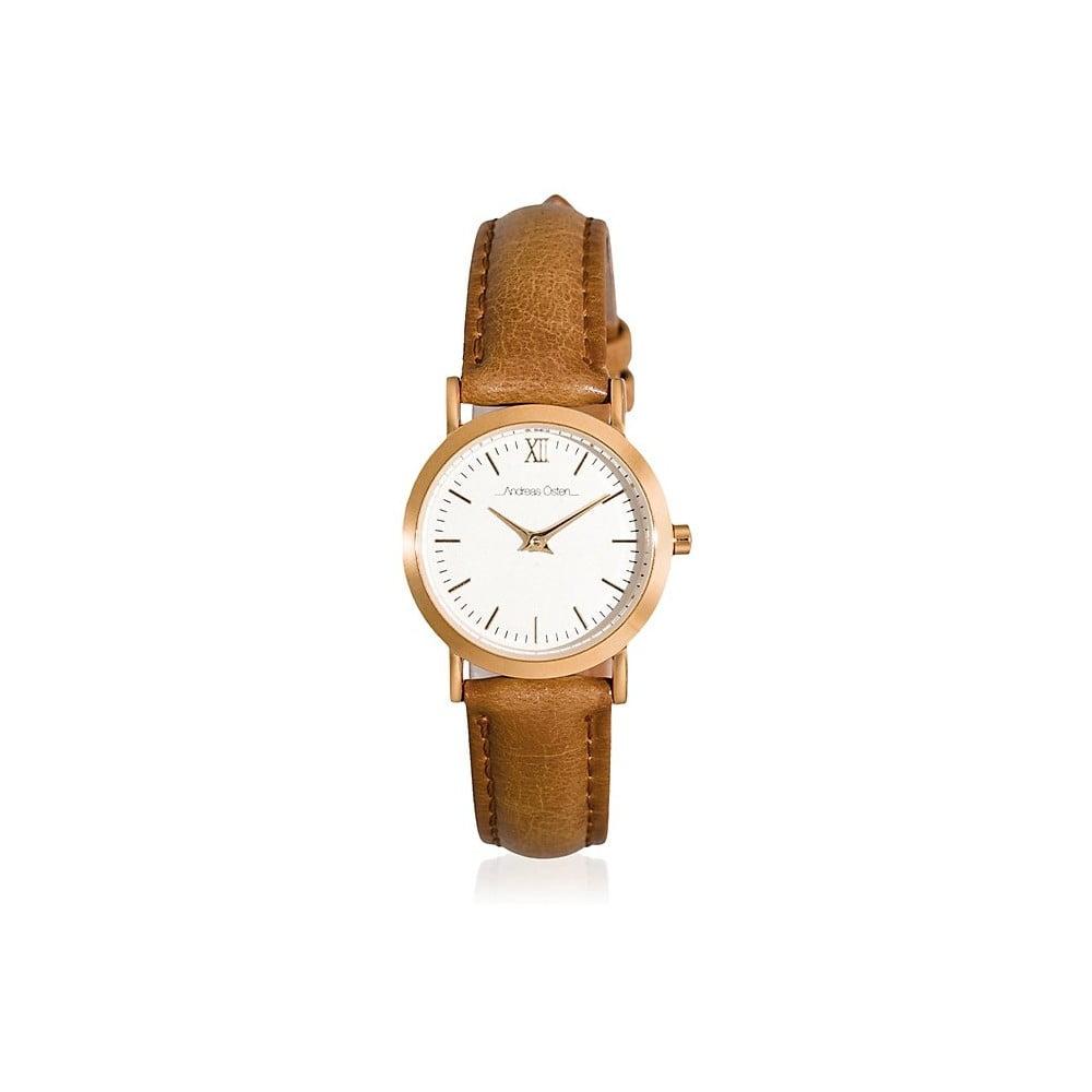 9eeaef6dc Dámské hodinky s hnědým páskem Andreas Östen Uella   Bonami