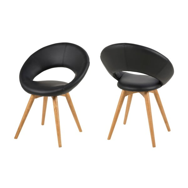Jídelní židle Plump, černá