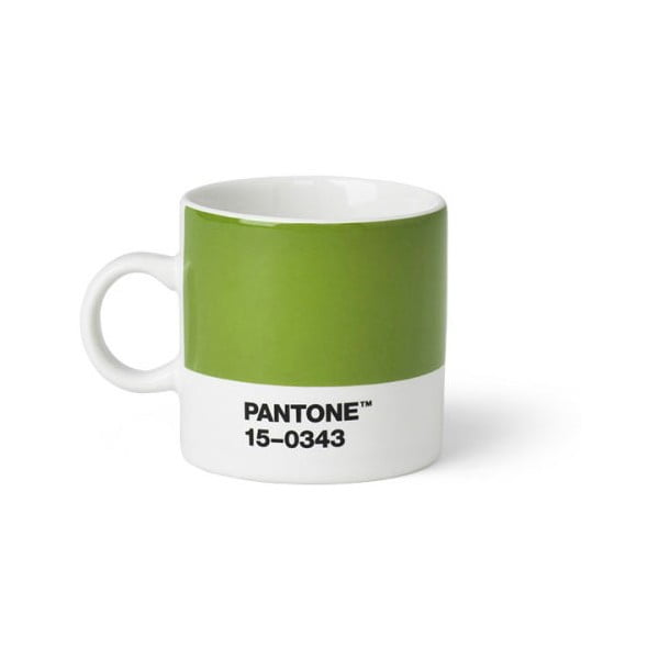 Cană Pantone 15-0343 Espresso, 120 ml, verde