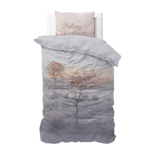 Lenjerie din bumbac, pat de o persoană Sleeptime Dream Tree, 140 x 220 cm