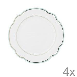 Porcelánový talíř  Continental od Lisbeth Dahl, 19 cm, 4 ks