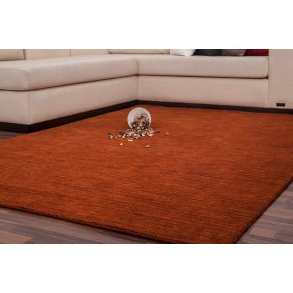 Vlněný koberec Millennium 160x230 cm, cihlově červený