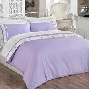 Sada povlečení a prostěradla Simple Purple, 200x220 cm