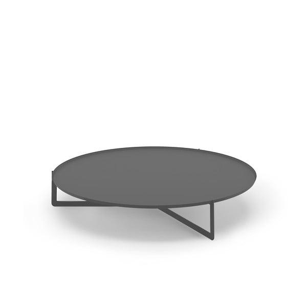 Tmavě šedý konferenční stolek MEME Design Round, Ø120cm