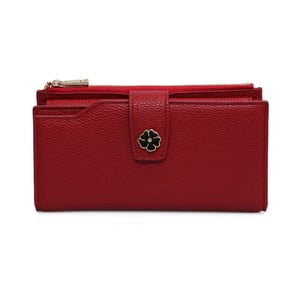 Červená peněženka z koženky Laura Ashley Redan